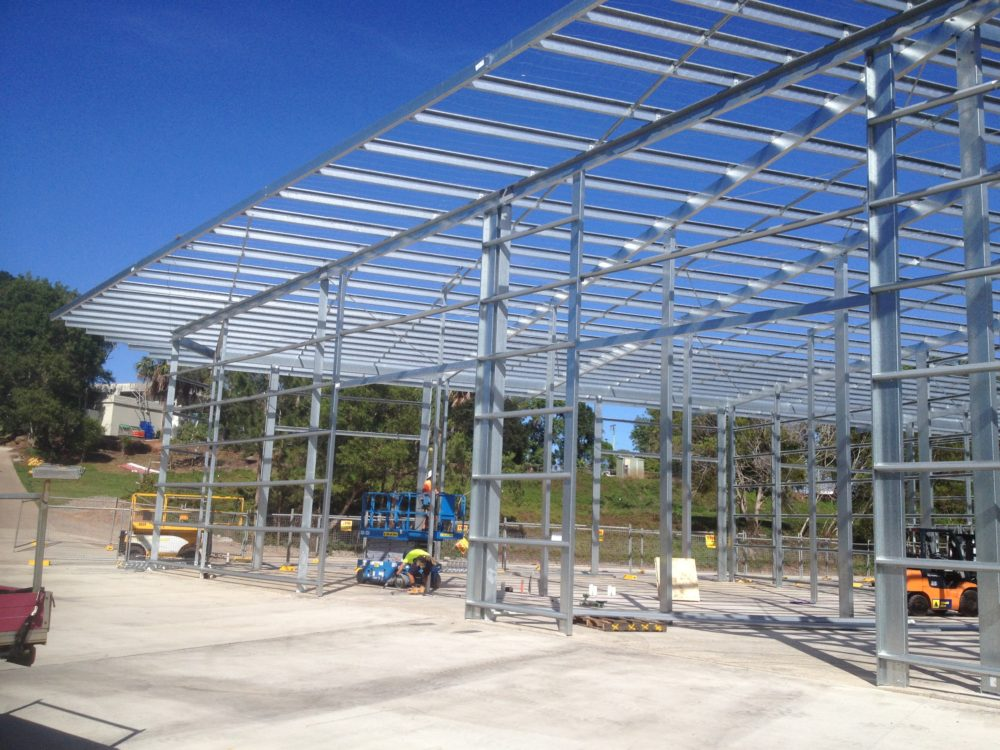 steel shed building sunshine coast
