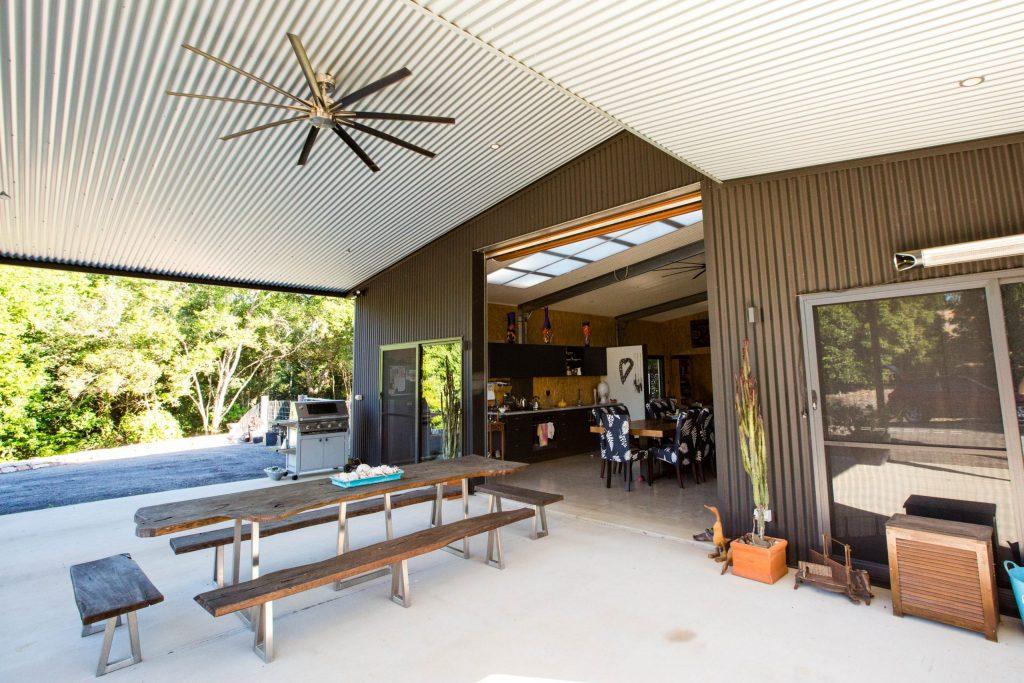 Custom Designer Shed Homes - Outdoor patio