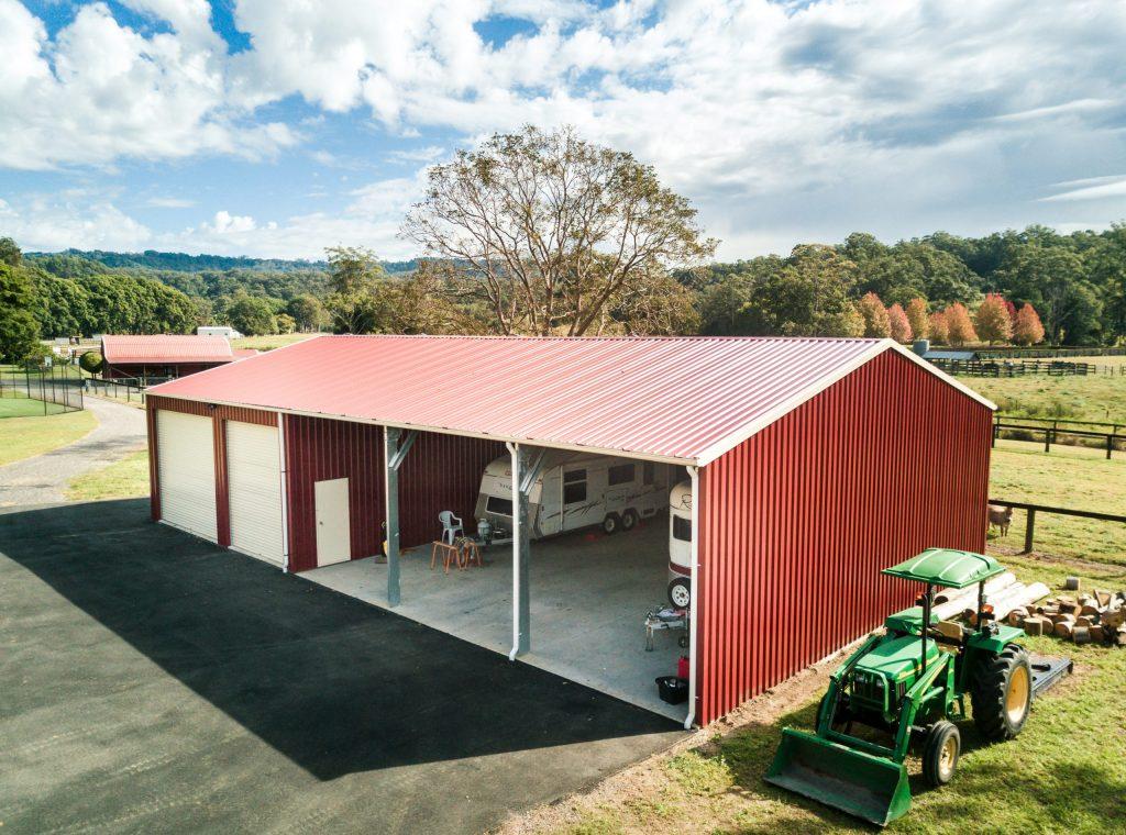 Sheds Sunshine Coast - agricultural shed built by Superior Garages and Industrials